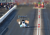Feb 22, 2020; Chandler, AZ, USA; NHRA top fuel driver Justin Ashley during qualifying for the Arizona Nationals at Wild Horse Pass Motorsports Park. Mandatory Credit: Mark J. Rebilas-USA TODAY Sports