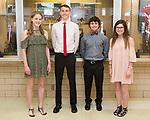 April 21, 2017- Tuscola, IL- The TCHS Junior attendants for 2017 Prom. From left are Katrine Joergensen, John Hill, Dalton Hoel, and Isabelle Shelmadine.  [Photo: Douglas Cottle]