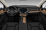 Stock photo of straight dashboard view of a 2018 Volvo XC90 4WD Inscription 5 Door SUV