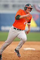 March 2, 2010:  Catcher Yasmani Grandal (24) of the Miami Hurricanes during a game at Legends Field in Tampa, FL.  Photo By Mike Janes/Four Seam Images