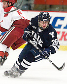 Nicholas Weberg (Yale - 26) - The Harvard University Crimson defeated the visiting Yale University Bulldogs 8-2 in the third game of their ECAC Quarterfinal matchup on Sunday, March 11, 2012, at Bright Hockey Center in Cambridge, Massachusetts.
