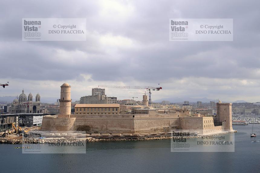 - Marsiglia, il forte St Jean....- Marseille, the fort St Jean
