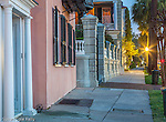 Architecture in the Battery District in Charleston, South Carolina, USA