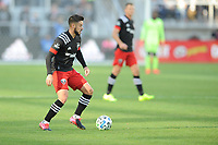 WASHINGTON, DC - MARCH 07: Junior Moreno #5 of D.C. United moves the ball during a game between Inter Miami CF and D.C. United at Audi Field on March 07, 2020 in Washington, DC.