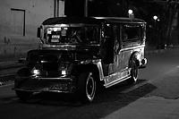Jeepneys at night, Manila, Philipines