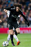 Adrien Rabiot (R) of Paris Saint Germain fights for the ball with Isco Alarcon of Real Madrid during the UEFA Champions League 2017-18 Round of 16 (1st leg) match between Real Madrid vs Paris Saint Germain at Estadio Santiago Bernabeu on February 14 2018 in Madrid, Spain. Photo by Diego Souto / Power Sport Images