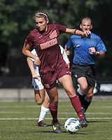 Virginia Tech forward Murielle Tiernan (20) dribbles.Virginia Tech (maroon) defeated Boston College (white), 1-0, at Newton Soccer Field, on September 22, 2013.