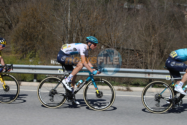 White Jersey Aleksandr Vlasov (RUS) Astana-Premier Tech in the peloton Stage 7 of Paris-Nice 2021, running 119.2km from Le Broc to Valdeblore La Colmiane, France. 13th March 2021.<br /> Picture: ASO/Fabien Boukla | Cyclefile<br /> <br /> All photos usage must carry mandatory copyright credit (© Cyclefile | ASO/Fabien Boukla)
