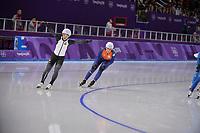 OLYMPIC GAMES: PYEONGCHANG: 24-02-2018, Gangneung Oval, Long Track, Mass Start Ladies, Nana Takagi (JPN), Irene Schouten (NED), ©photo Martin de Jong