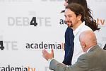 Pablo Iglesias, leader of Unido Podemos, before the four political debate between, the leaders of Ciudadanos, Unidos Podemos, Partido Socialista and Partido Popular, before the elections of july 26 Jun 13,2016. (ALTERPHOTOS/Rodrigo Jimenez)