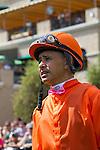 JUL 20,2014:Mike Smith before the Eddie Read Stakes at Del Mar in Del Mar,CA. Kazushi Ishida/ESW/CSM