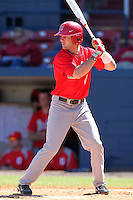 Ohio State Buckeyes Joe Ciamacco #4 during a game vs. the Illinois State Redbirds at Chain of Lakes Park in Winter Haven, Florida;  March 11, 2011.  Illinois defeated Ohio State 12-1.  Photo By Mike Janes/Four Seam Images