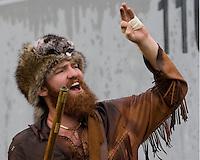11 November 2006: West Virginia Mountaineer mascot..The West Virginia Mountaineers defeated the Cincinnati Bearcats 42-24 on November 11, 2006 at Mountaineer Field, Morgantown, West Virginia..