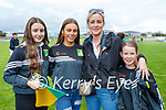 Shouting for Kilmoyley at the Kerry Senior Hurling Championship Final in Austin Stack Park on Sunday were l-r: Amy Corridon, Lily Gaynor, Mairead and Jessica McElligott.