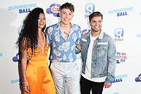 Vick Hope, Roman Kemp and Sonny Jay<br /> poses on the media line before performing at the Summertime Ball 2019 at Wembley Arena, London<br /> <br /> ©Ash Knotek  D3506  08/06/2019