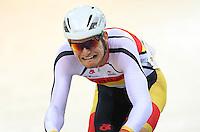 Southland's Cameron Karwowski at the BikeNZ Elite & U19 Track National Championships, Avantidrome, Home of Cycling, Cambridge, New Zealand, Sunday, March 16, 2014. Credit: Dianne Manson