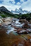 Rushing stream, Los Glaciares National Park, Argentina