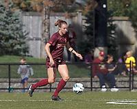 Virginia Tech defender Jodie Zelenky (6) dribbles.Virginia Tech (maroon) defeated Boston College (white), 1-0, at Newton Soccer Field, on September 22, 2013.