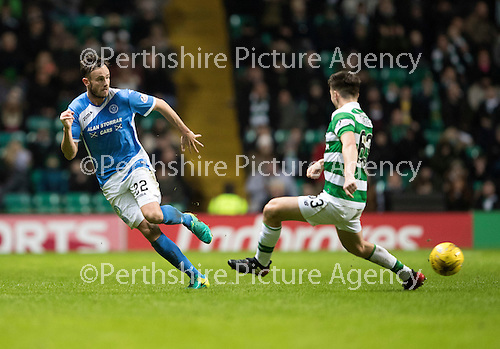 Celtic v St Johnstone…25.01.17     SPFL    Celtic Park<br />Keith Watson and Kieran Tierney<br />Picture by Graeme Hart.<br />Copyright Perthshire Picture Agency<br />Tel: 01738 623350  Mobile: 07990 594431
