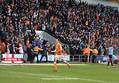09/03/2019 Sky Bet League 1 Blackpool v Southend United<br /> <br /> Fans celebrate the added time equaliser