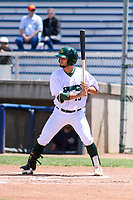 Beloit Snappers second baseman Joseph Pena (15) at bat during a Midwest League game against the Cedar Rapids Kernels on June 2, 2019 at Pohlman Field in Beloit, Wisconsin. Beloit defeated Cedar Rapids 6-1. (Brad Krause/Four Seam Images)