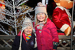 Issey Landy Hand and Ava Landy at the Arrival of Santa and the turning on of the Christmas Lights in Dunleer...(Photo credit should read Jenny Matthews www.newsfile.ie)....This Picture has been sent you under the conditions enclosed by:.Newsfile Ltd..The Studio,.Millmount Abbey,.Drogheda,.Co Meath..Ireland..Tel: +353(0)41-9871240.Fax: +353(0)41-9871260.GSM: +353(0)86-2500958.email: pictures@newsfile.ie.www.newsfile.ie.
