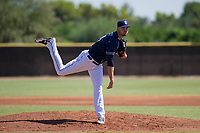 San Diego Padres pitcher Walker Lockett (34) follows through on his delivery during an Instructional League game against the Milwaukee Brewers on September 27, 2017 at Peoria Sports Complex in Peoria, Arizona. (Zachary Lucy/Four Seam Images)