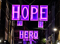 This year's Carnaby Street Christmas lights have been created in collaboration with the Choose Love charity. London on November 4th 2020<br /> <br /> Photo by Keith Mayhew