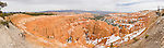 Panorama of the orange hoodoos of Bryce Canyon, Utah, USA