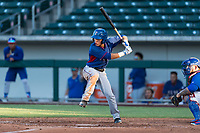 AZL Rangers shortstop Frainyer Chavez (60) at bat during an Arizona League playoff game against the AZL Cubs 1 at Sloan Park on August 29, 2018 in Mesa, Arizona. The AZL Cubs 1 defeated the AZL Rangers 8-7. (Zachary Lucy/Four Seam Images)