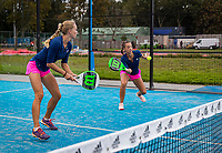 Netherlands, September 5,  2020, Amsterdam, Padel Dam, NK Padel, National Padel Championships,  Dominique Karregat (NED) (L) and Sem Wensveen (NED)<br /> Photo: Henk Koster/tennisimages.com