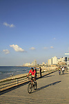 Israel, Tel Aviv-Yafo, the promenade in Jaffa