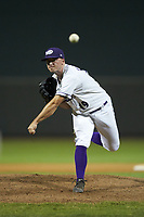 Winston-Salem Dash relief pitcher Ian Clarkin (19) delivers a pitch to the plate against the Frederick Keys at BB&T Ballpark on July 26, 2018 in Winston-Salem, North Carolina. The Keys defeated the Dash 6-1. (Brian Westerholt/Four Seam Images)