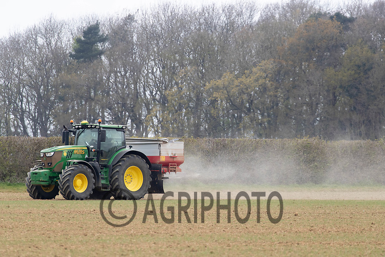 27-4-2021 Applying nitrogen to Spring Barley <br /> ©Tim Scrivener Photographer 07850 303986<br />      ....Covering Agriculture In The UK....