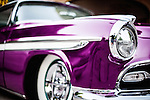 Purple vintage car