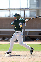 Wagner Mateo, one of the top free agents from the Dominican Republic, works out with the Oakland Athletics at their spring training facility at Papago Park, Phoenix, AZ - 03/16/2010..Photo by:  Bill Mitchell/Four Seam Images.