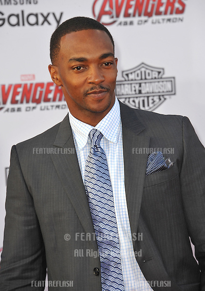 """Anthony Mackie at the world premiere of his movie """"Avengers: Age of Ultron"""" at the Dolby Theatre, Hollywood.<br /> April 13, 2015  Los Angeles, CA<br /> Picture: Paul Smith / Featureflash"""