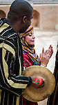 Locals performing in the ancient Roman city of Leptis Magna in Libya.