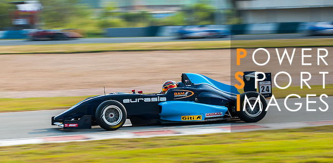 Aidan Read of Australia and Eurasia Motorsport drives during the Formula Masters China Series as part of the 2015 Pan Delta Super Racing Festival at Zhuhai International Circuit on September 19, 2015 in Zhuhai, China.  Photo by Moses Ng/Power Sport Images