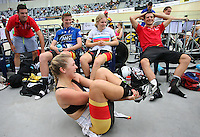 Southland team at the BikeNZ Elite & U19 Track National Championships, Avantidrome, Home of Cycling, Cambridge, New Zealand, Sunday, March 16, 2014. Credit: Dianne Manson
