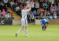 Pictured:  Craig Beattie of Swansea celebrating his goal. Saturday 17 July 2011<br />
