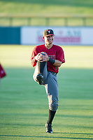 AZL Diamondbacks Walter Higuera (1) warms up in the outfield prior to the game against the AZL Cubs on August 11, 2017 at Sloan Park in Mesa, Arizona. AZL Cubs defeated the AZL Diamondbacks 7-3. (Zachary Lucy/Four Seam Images)