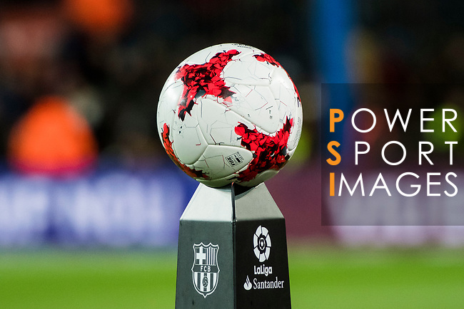 Official match ball is seen prior to the Copa Del Rey 2017-18 Round of 16 (2nd leg) match between FC Barcelona and RC Celta de Vigo at Camp Nou on 11 January 2018 in Barcelona, Spain. Photo by Vicens Gimenez / Power Sport Images