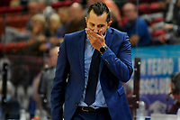 GRONINGEN - FIBA Basketbal-bubbel. Donar - Allianz Swans Gmunden seizoen 2021-2022, 29-09-2021, Donar coach Matthew Otten