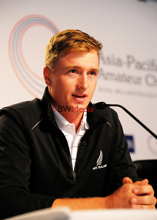 Nick Voke (NZ). 2017 Asia-Pacific Amateur Championship presser at Royal Wellington Golf Club in Wellington, New Zealand on Wednesday, 25 October 2017. Photo: Dave Lintott / lintottphoto.co.nz