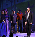 during the opening night performance curtain call bows for 'Sunday in the Park with George' at the Hudson Theatre on February 23, 2017 in New York City.
