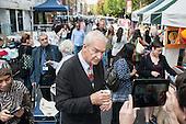 Jon Snow, Camden Council launch of revamped Chalton Street market.