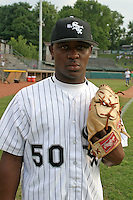 August 23, 2005:  Jason Rice of the Bristol White Sox during a game at Devault Memorial Stadium in Bristol, VA.  Bristol is the Appalachian League Rookie affiliate of the Chicago White Sox.  Photo by:  Mike Janes/Four Seam Images
