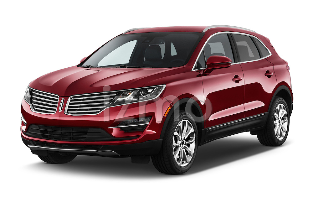 2018 Lincoln MKC FWD 5 Door SUV Angular Front stock photos of front three quarter view