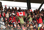 03 October 2010.  Canadian friends, fans and family cheer on Hawley Bennett-Awad and Gin and Juice.